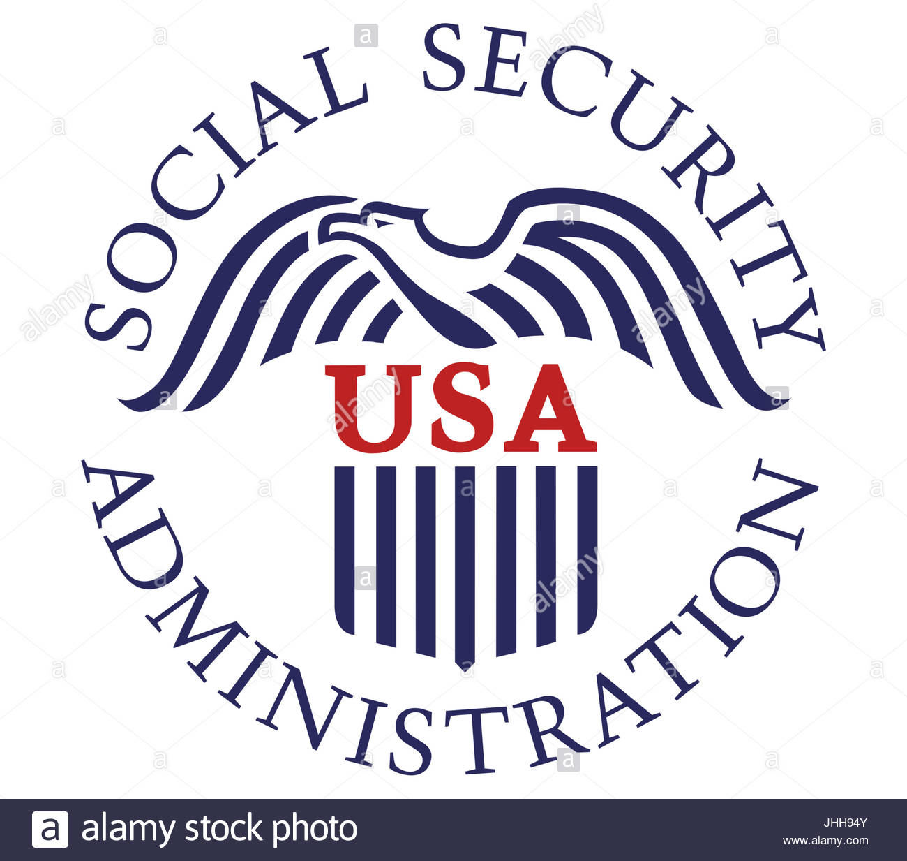 Social Security Administration logo icon - Stock Image