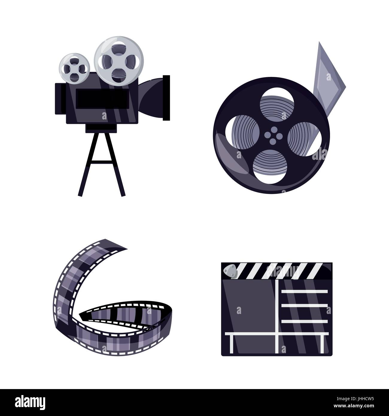 set short film production tools - Stock Image