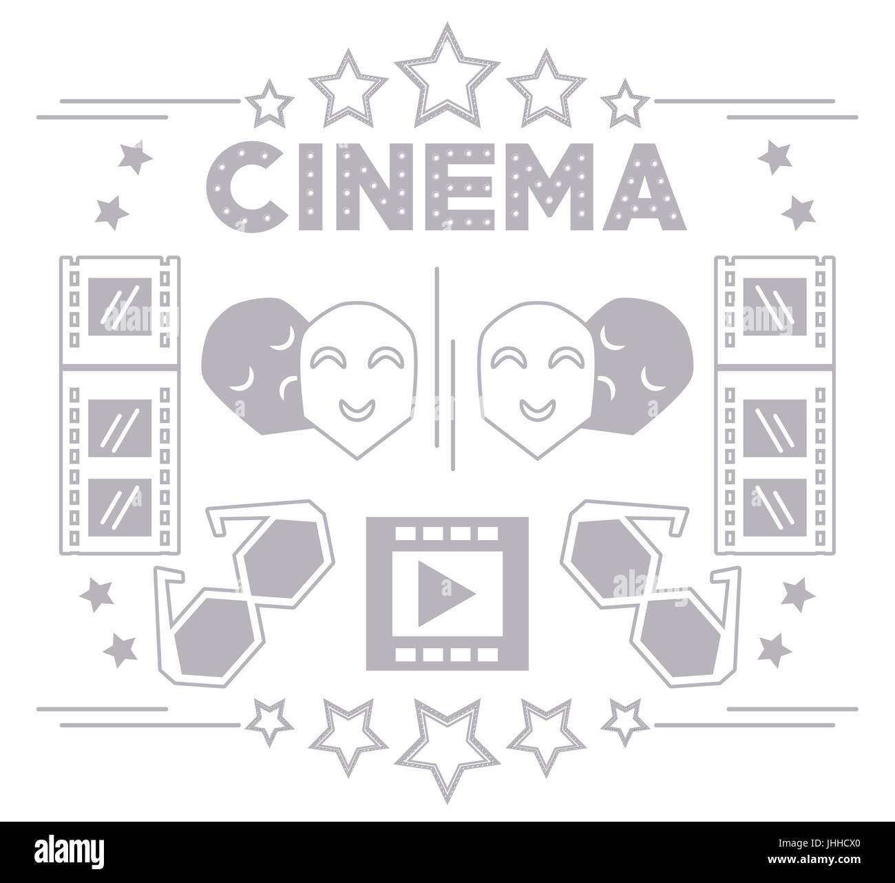 cinema short film production tools background - Stock Image