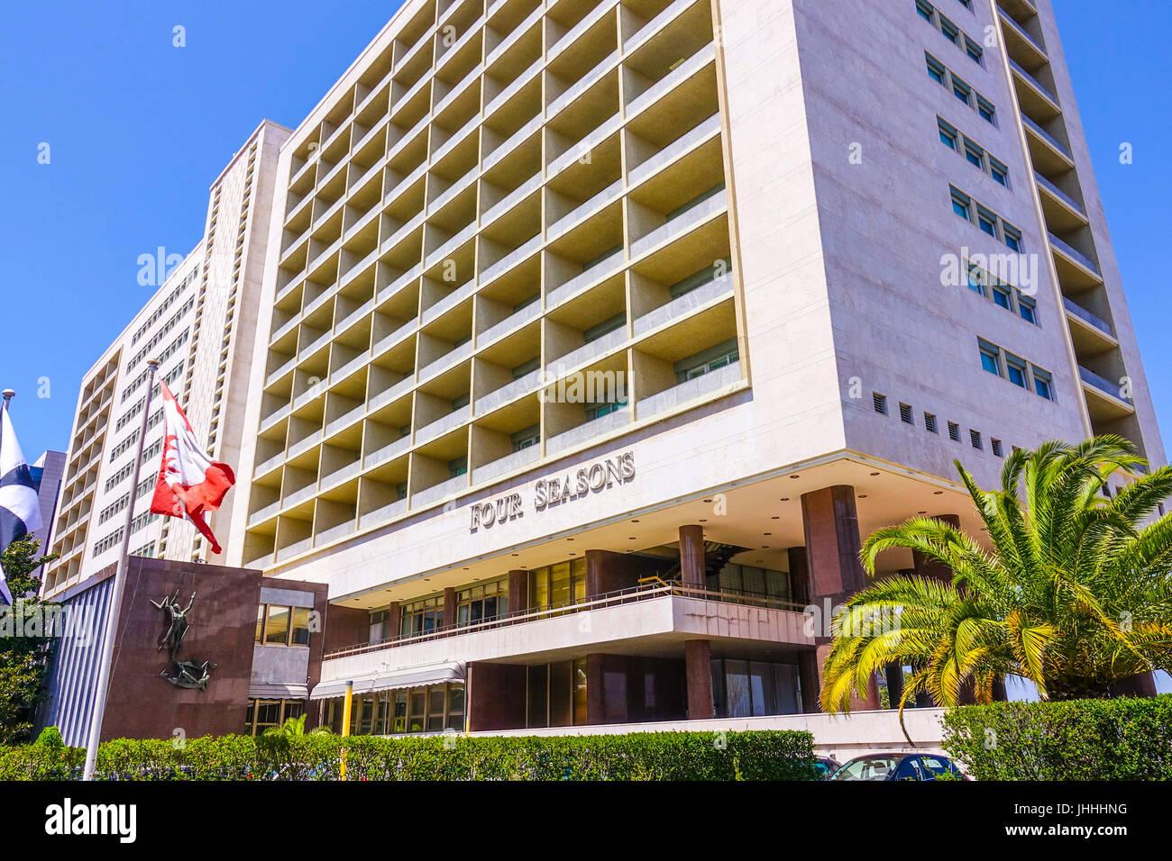 The Ritz Four Seasons Hotel in Lisbon - LISBON, PORTUGAL 2017 Stock Photo