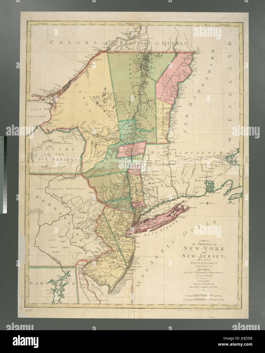 A map of the provinces of New-York and New Jersey - with a part of ...