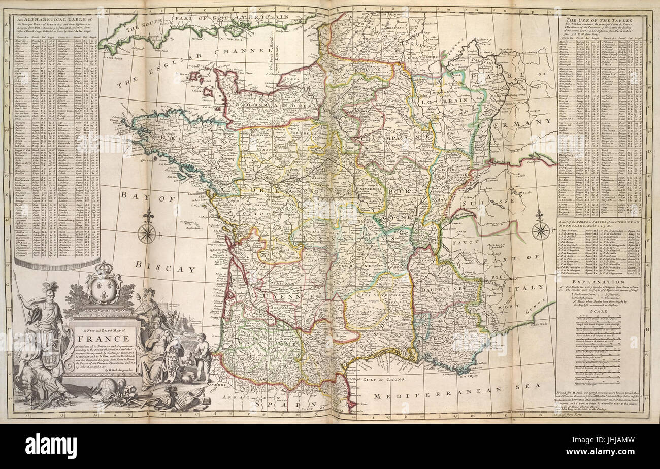 Map Of France Provinces.A New And Exact Map Of France Divided Into All Its Provinces And