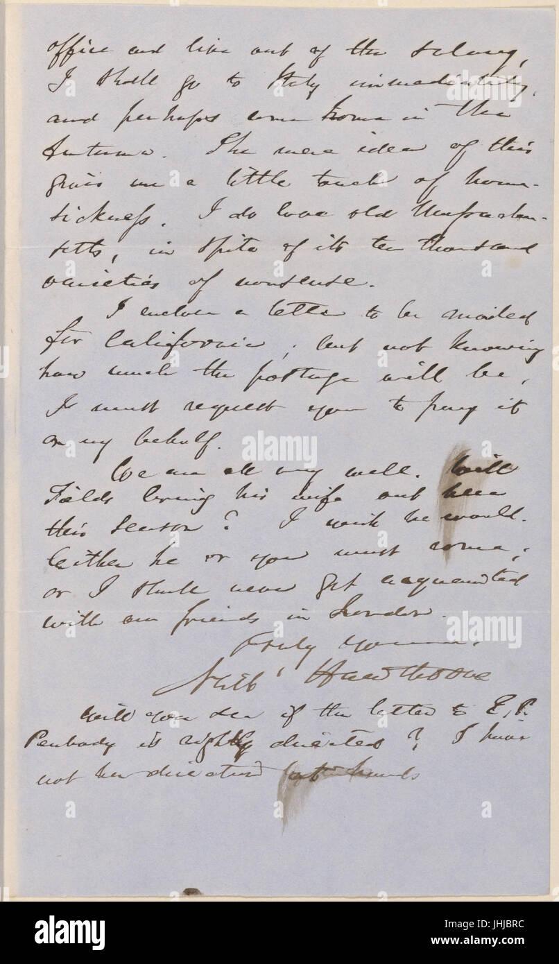 Ticknor, (William D.), ALS to. Mar. 2, 1855 (NYPL b15823745-5071019) Stock Photo
