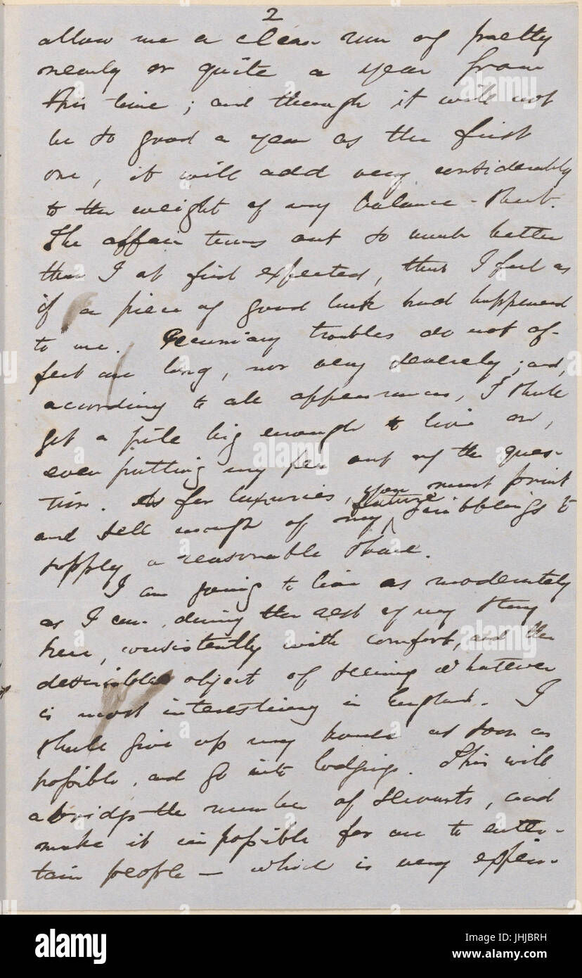Ticknor, (William D.), ALS to. Mar. 30, 1855 (NYPL b15823745-5071024) Stock Photo