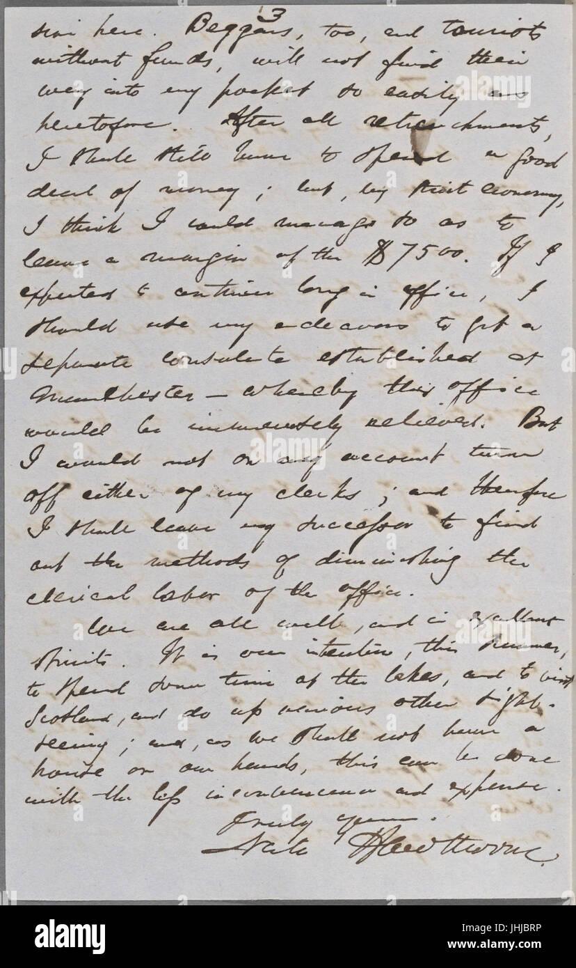 Ticknor, (William D.), ALS to. Mar. 30, 1855 (NYPL b15823745-5071023) Stock Photo