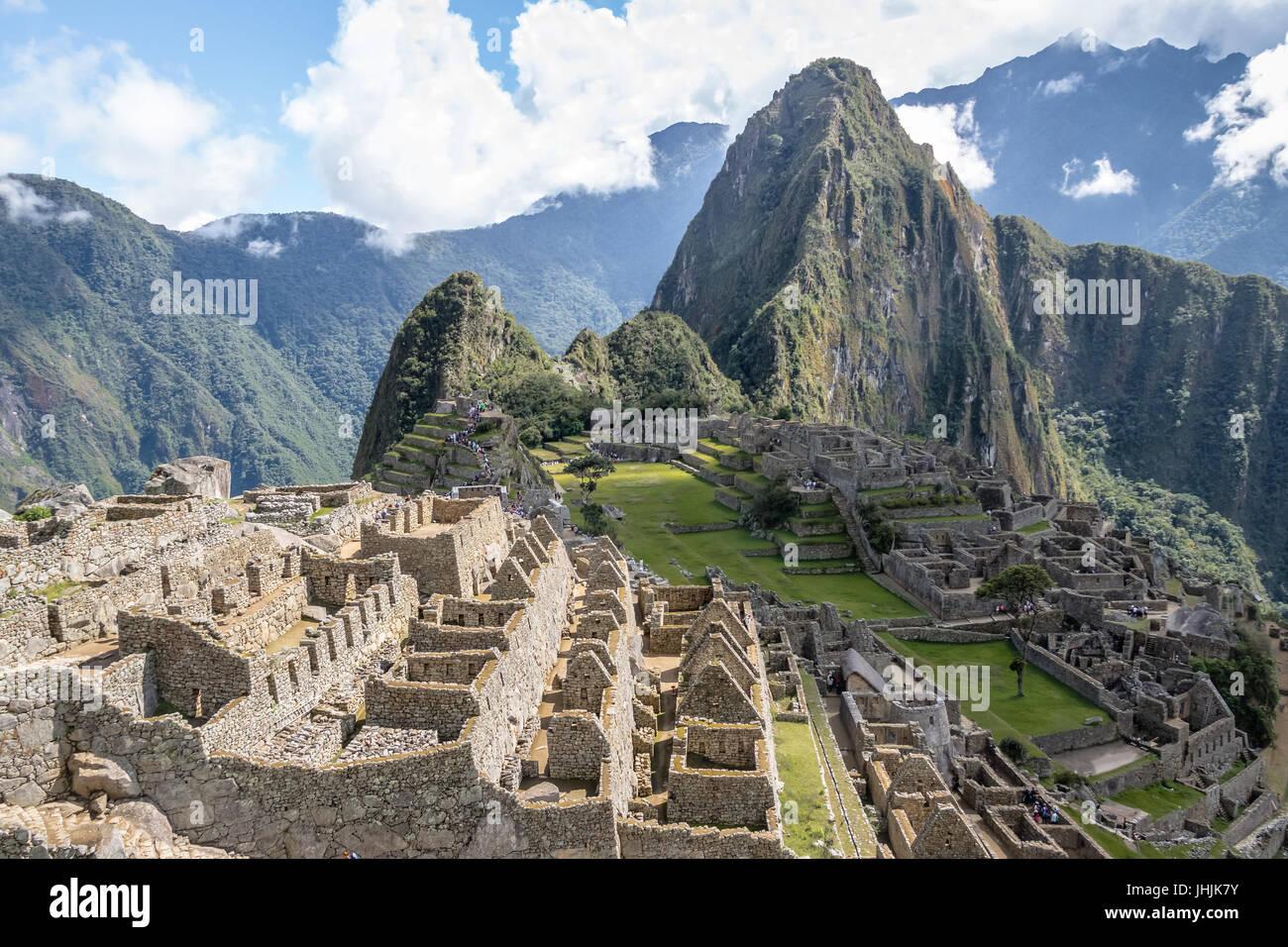 Machu Picchu Inca Ruins - Sacred Valley, Peru - Stock Image