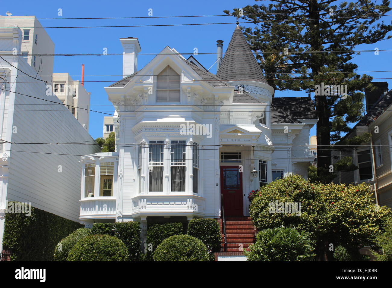 Eastlake-style House built 1886, Pacific Heights, San Francisco, California - Stock Image