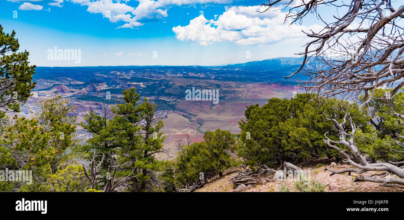 The view from the Canyon Overlook in Dinosaur National Monument, Colorado - Stock Image