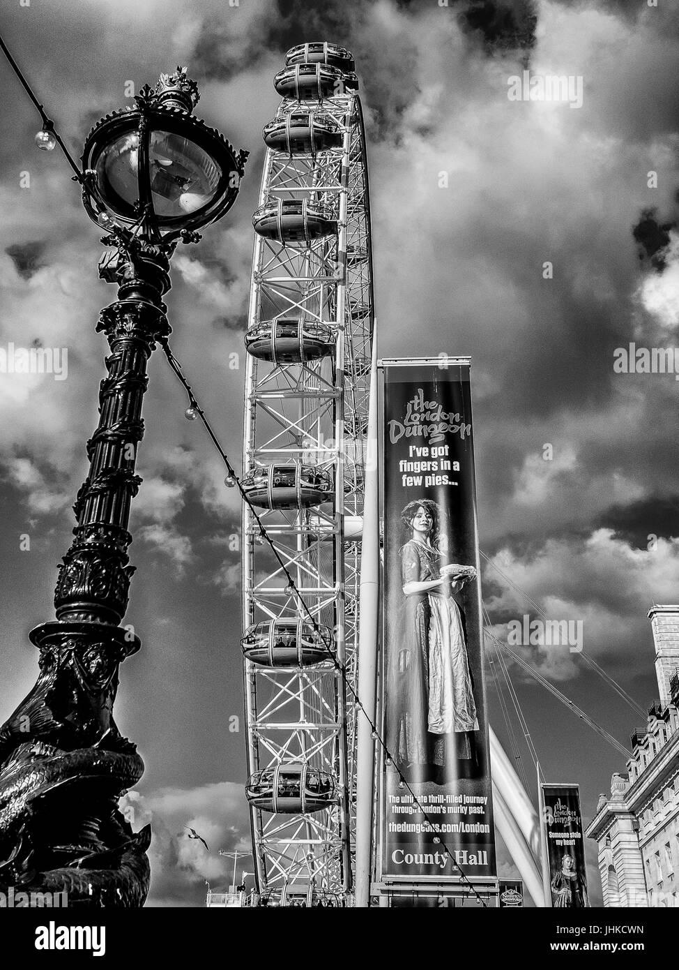 London in Black & White - Stock Image