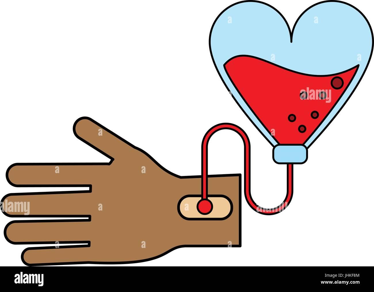 transfusion vector illustration - Stock Image