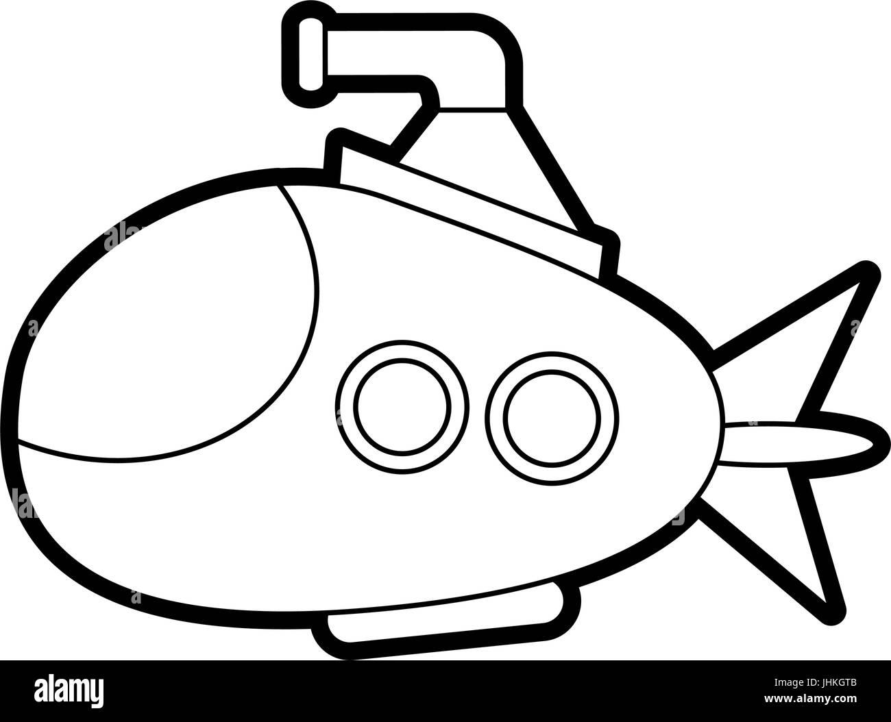 submarine vector illustration - Stock Vector