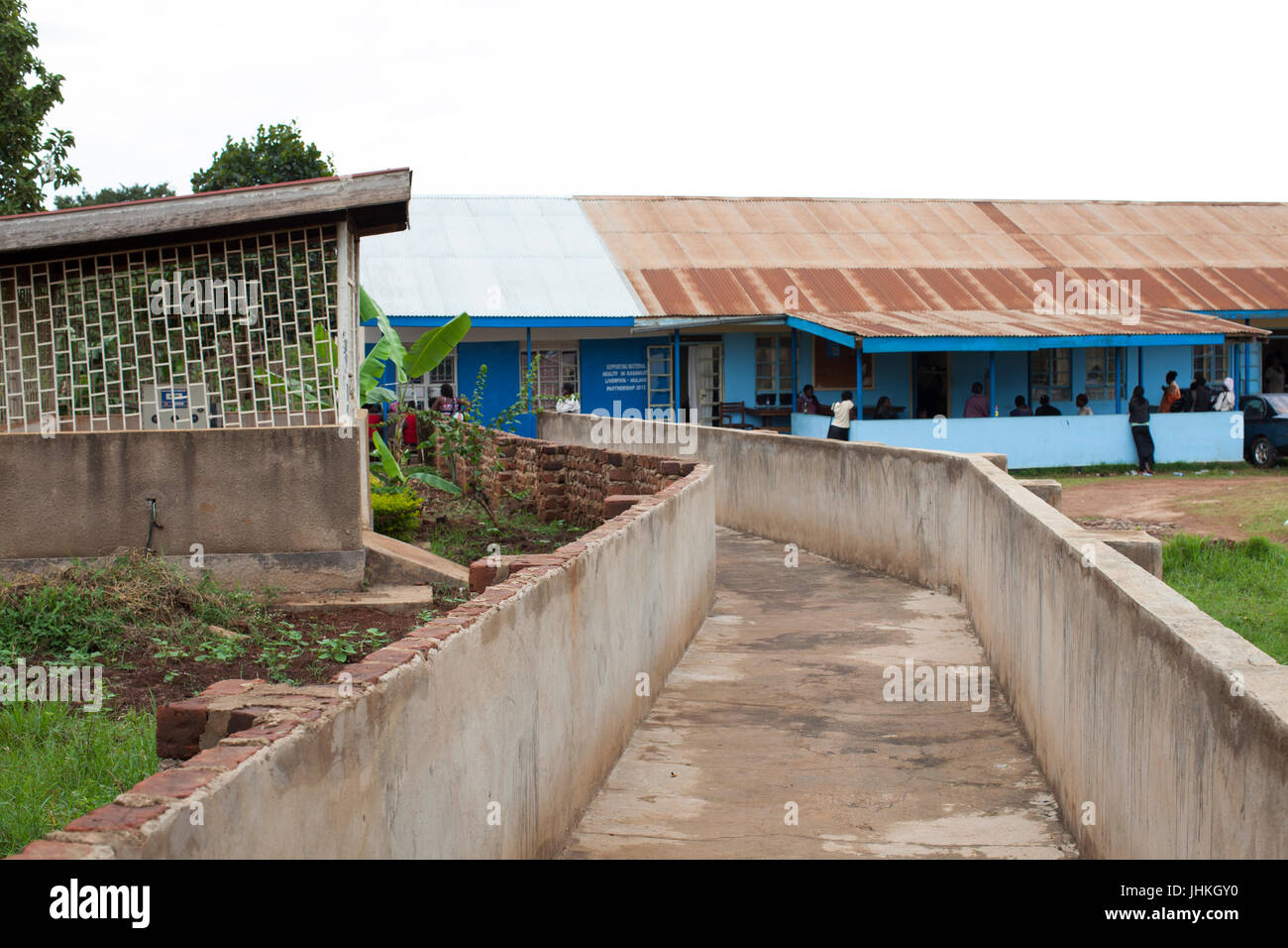 A new concrete ramp has been built connecting the delivery suite to the maternity ward allowing easier access for - Stock Image
