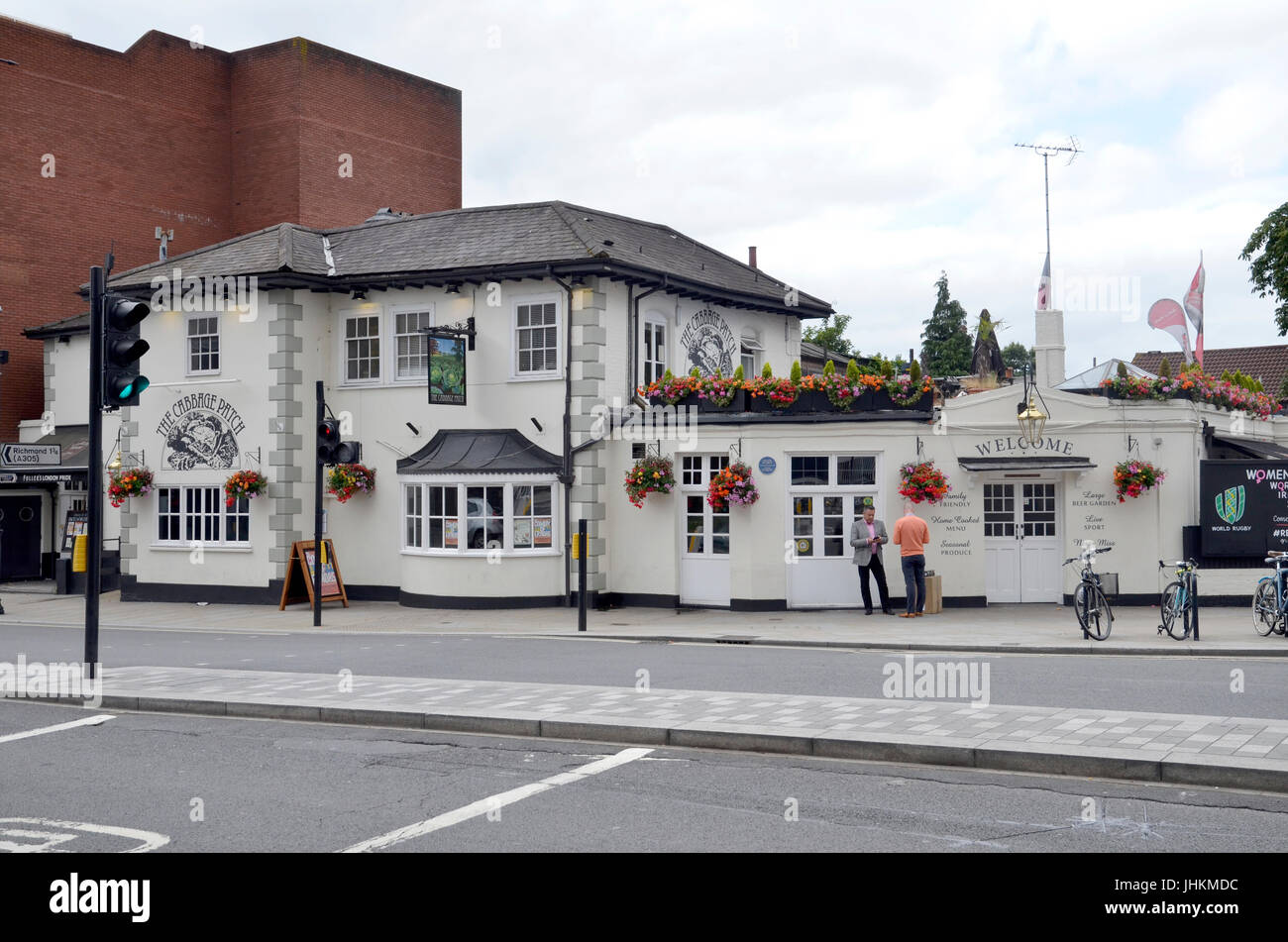 The Cabbage Patch public house in Twickenham, London - Stock Image
