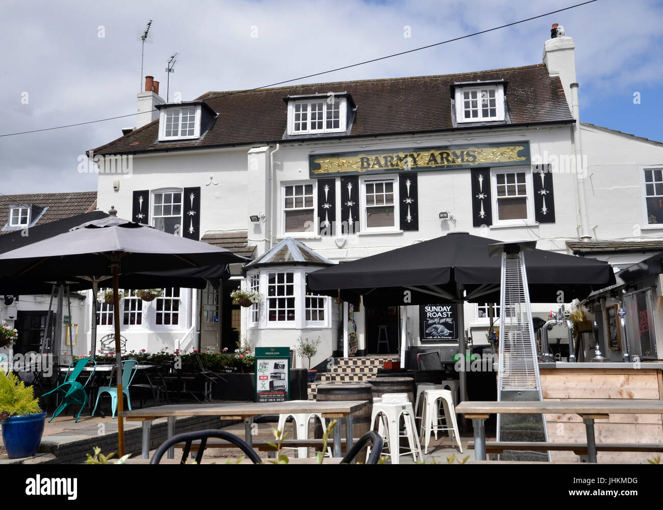 The Barmy Arms public house on the River Thames in Twickenham, London - Stock Image