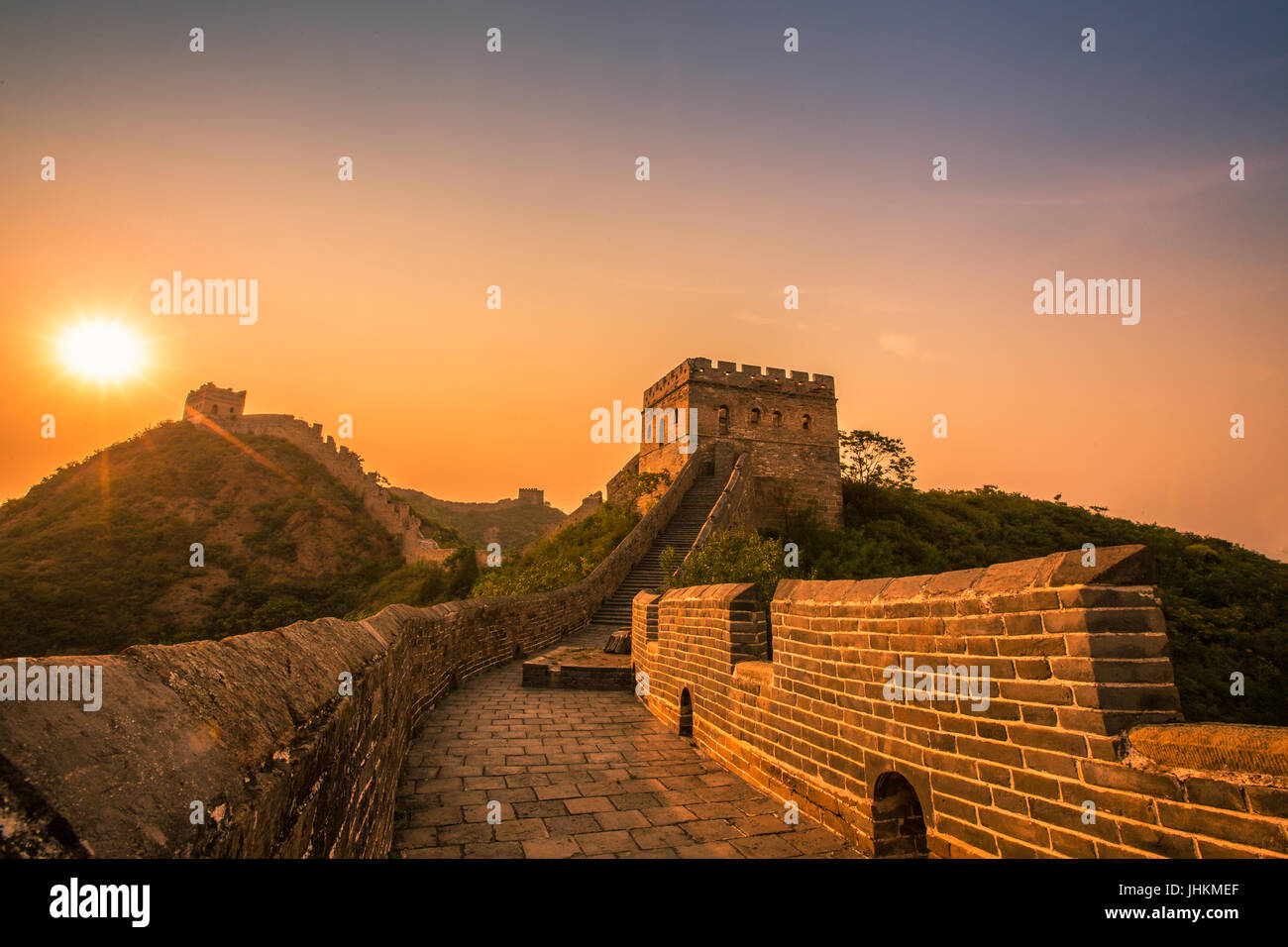 Jinshanling,Great Wall,Hebei,China - Stock Image