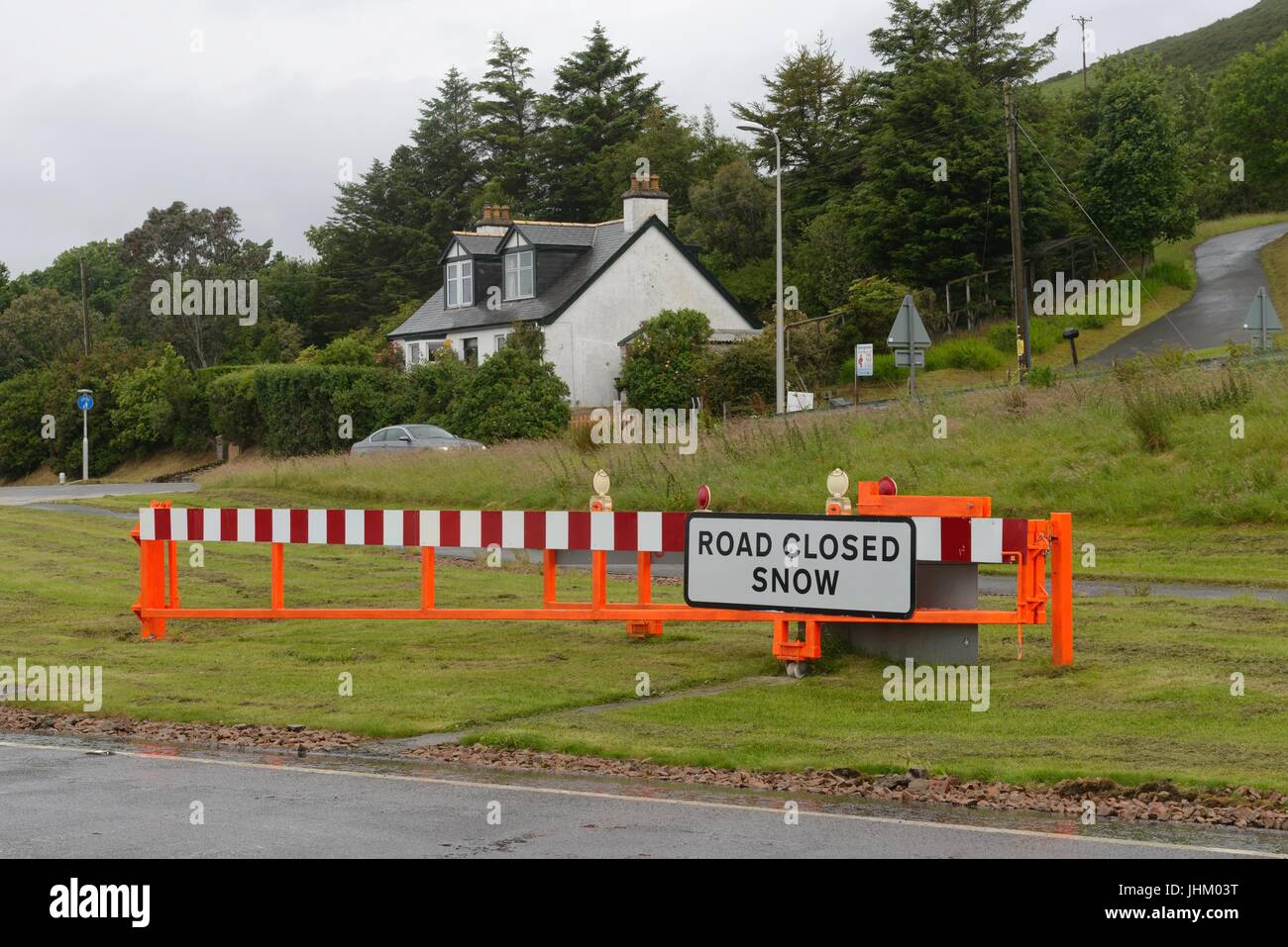 Snowgate on the A9 East Helmsdale road at Navidale, Sutherland, Highland, Scotland. - Stock Image