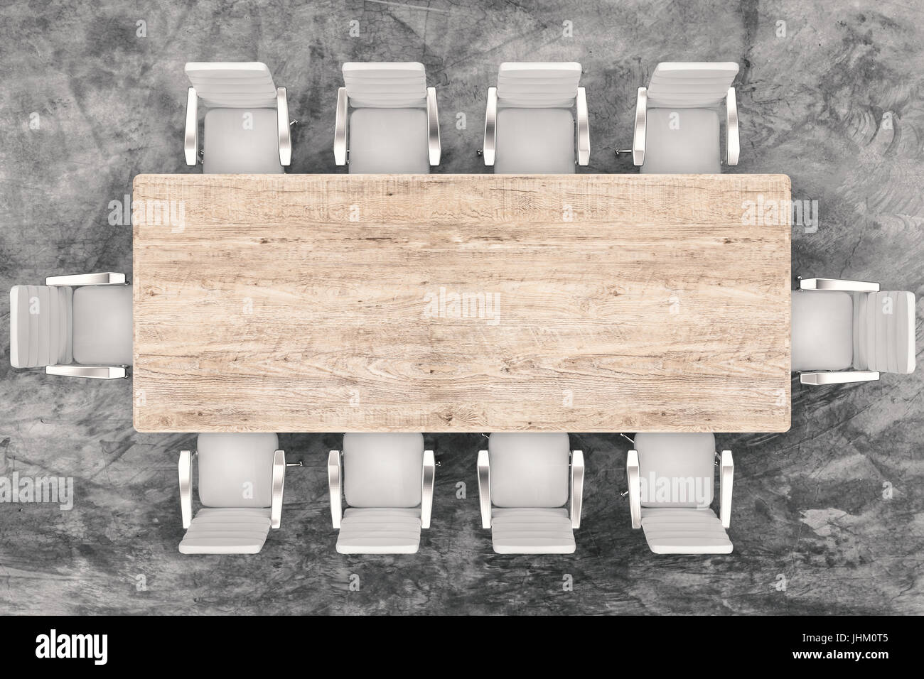 table and chairs top view vector 3d rendering top view conference table and office chairs stock photo