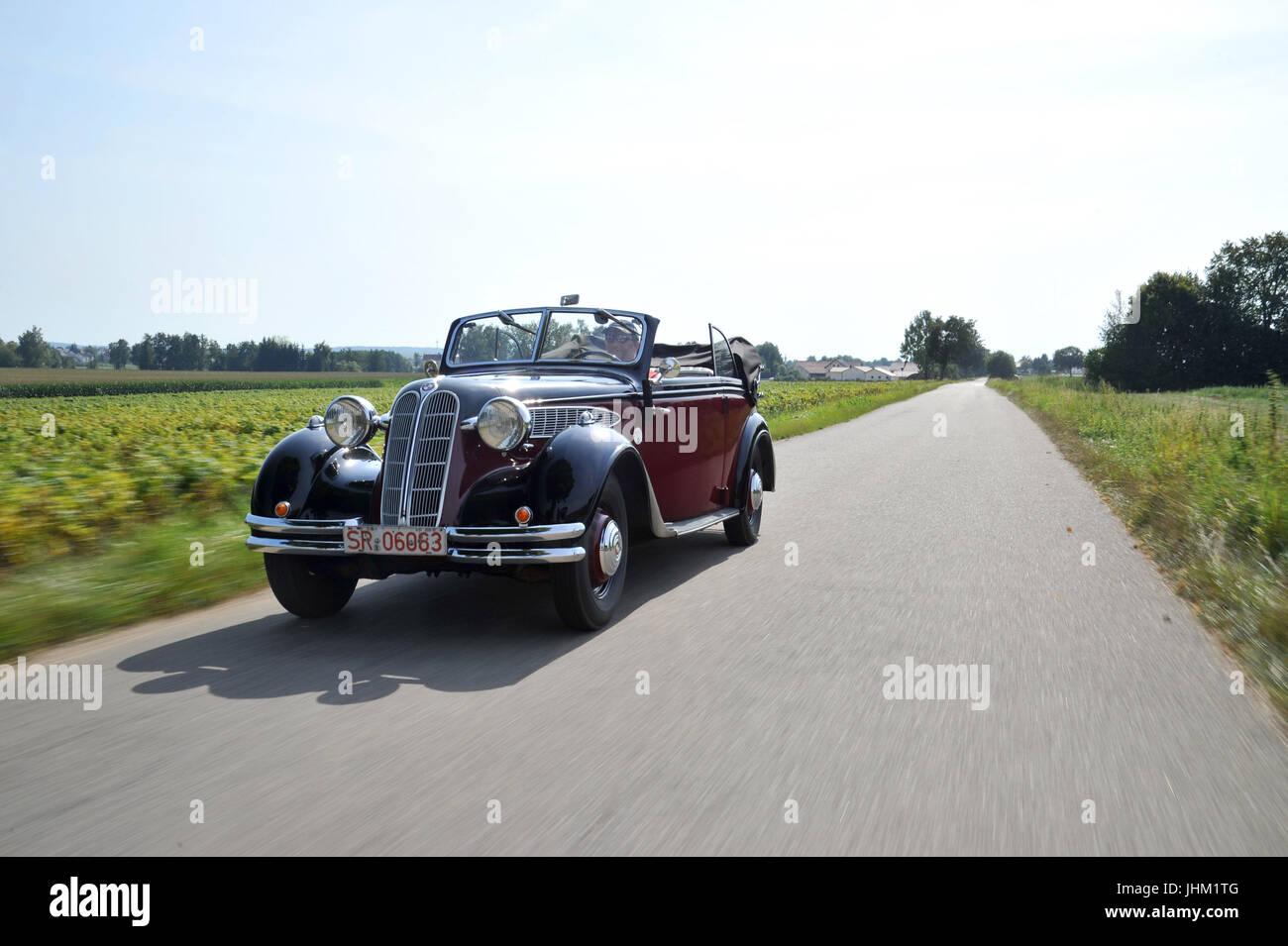 BMW 326 2 door convertible (1935-1941) pre war luxury car - Stock Image