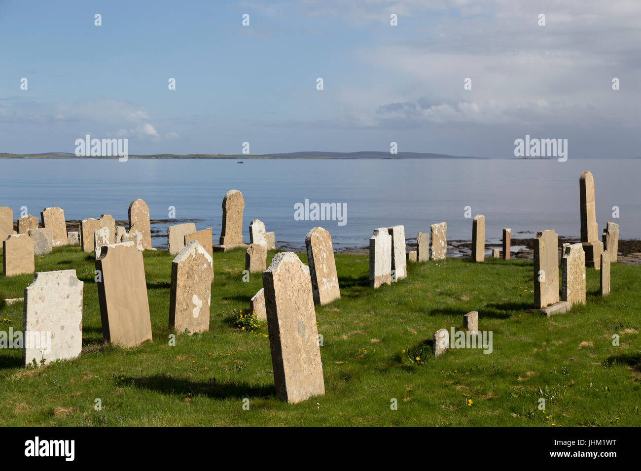 Orkney Islands, Westray, Tuquoy Church cemetery Stock Photo