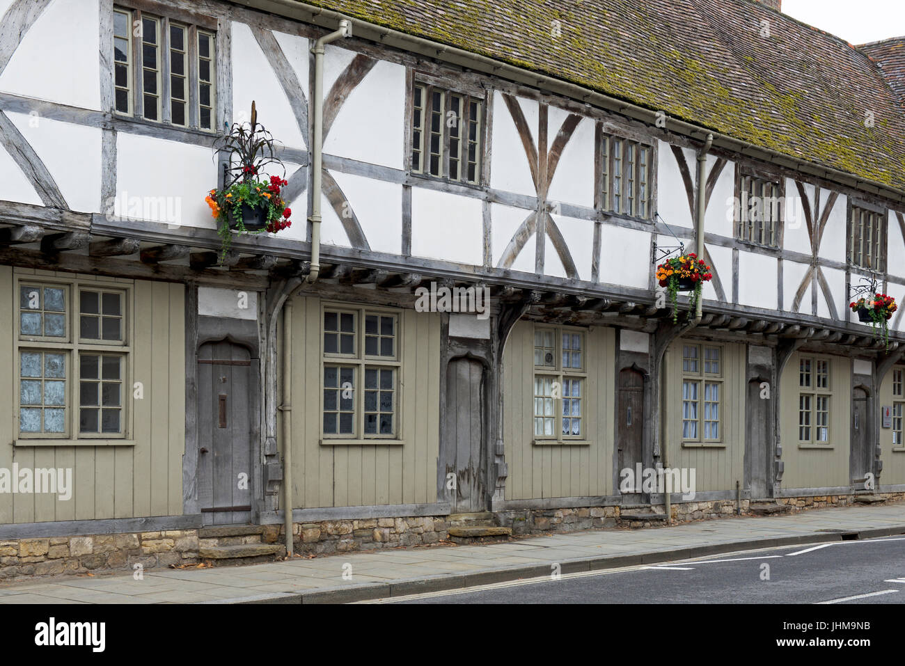 Timber-framed buildings in Tewkesbury, Gloucestershire, England UK - Stock Image