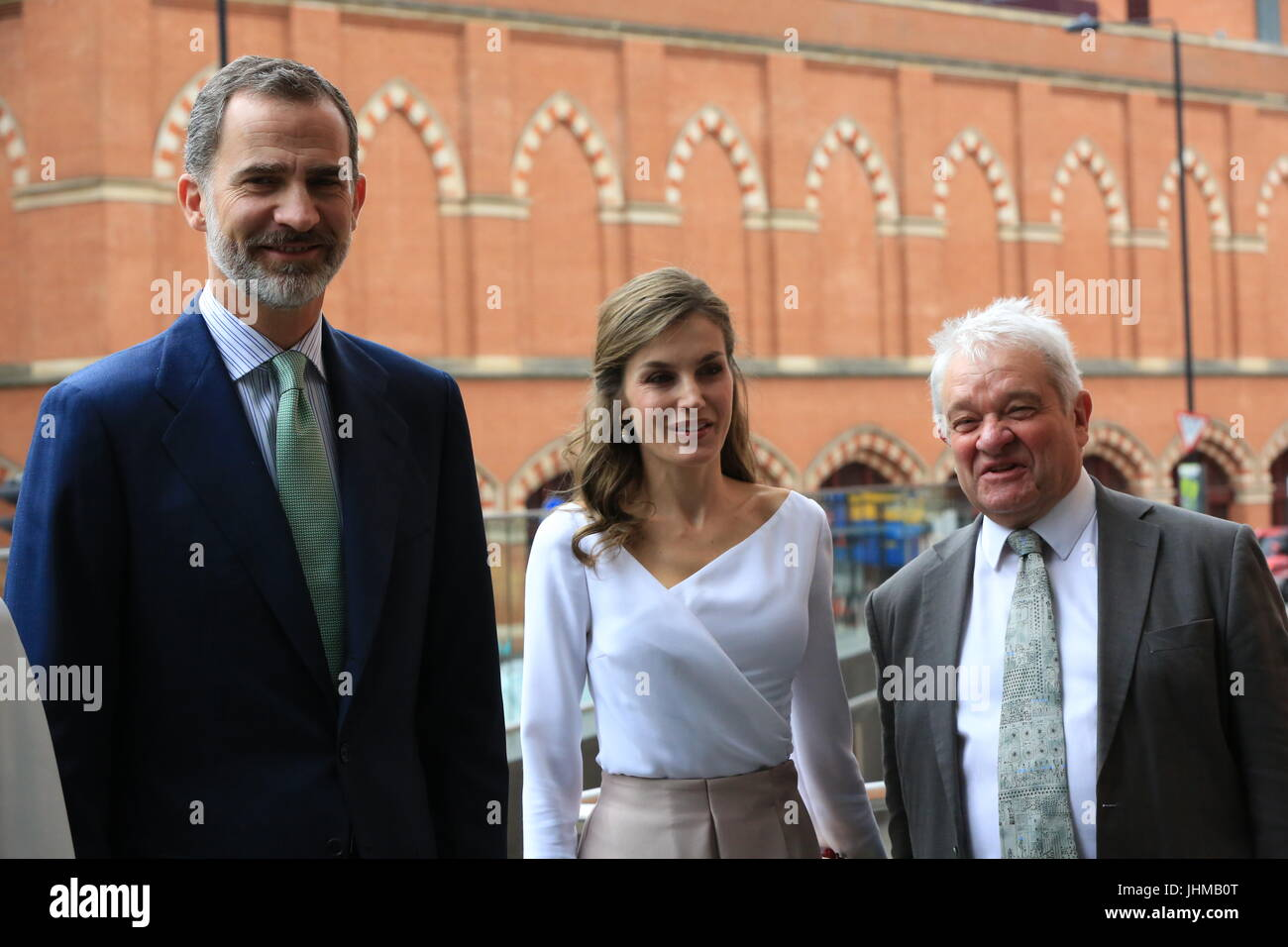 King Felipe Vi Of Spain And His Wife Queen Letizia Accompanied By