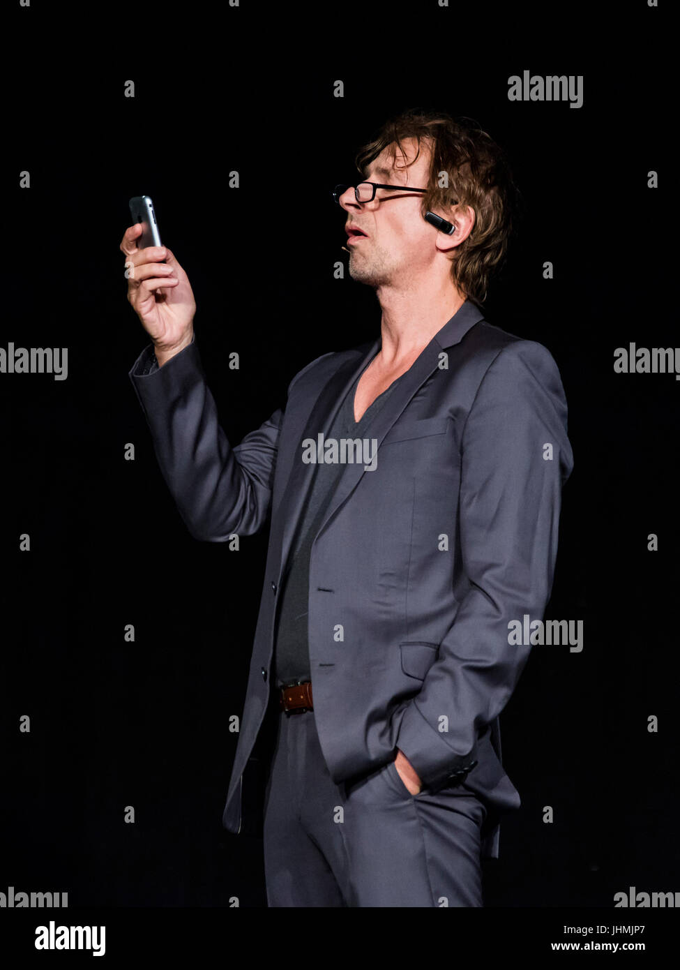 Wetzlar, Germany. 14th July, 2017. Ingolf Lück, German actor, presenter and comedian in his role as tabloid journalist Stock Photo