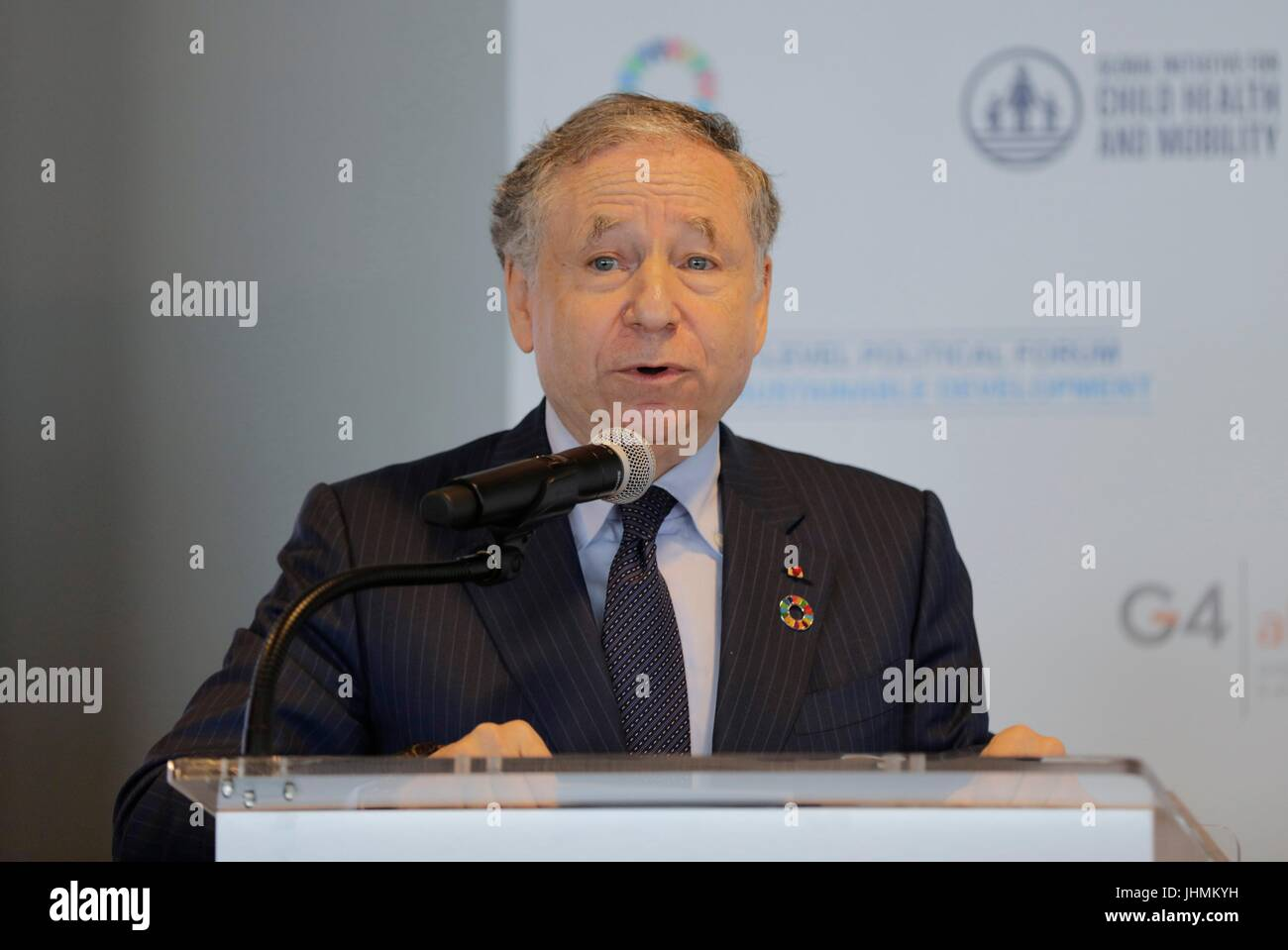 United Nations, New York, USA, July 14 2017 - Jean Todt, UN Special Envoy for Road Safety Participated on a Meeting Stock Photo