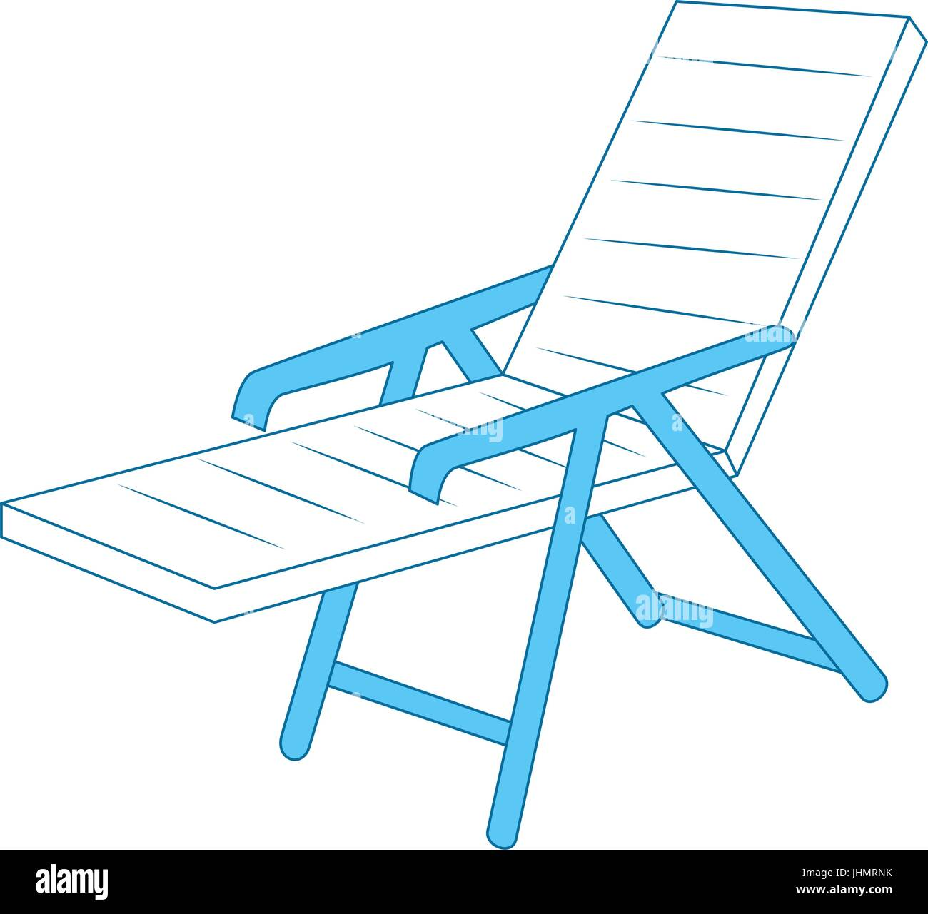 beach seat icon over white background vector illustration Stock Vector