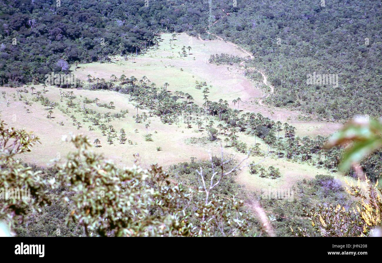 View Geodetic the gazebo; Chapada dos Guimarães; Mato Grosso; Brazil Stock Photo