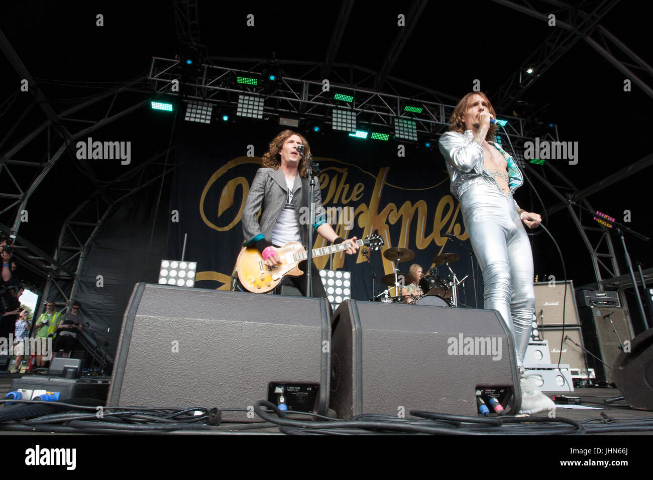 The Darkness headline at Coventry's Godiva Festival in July 2017 Stock Photo