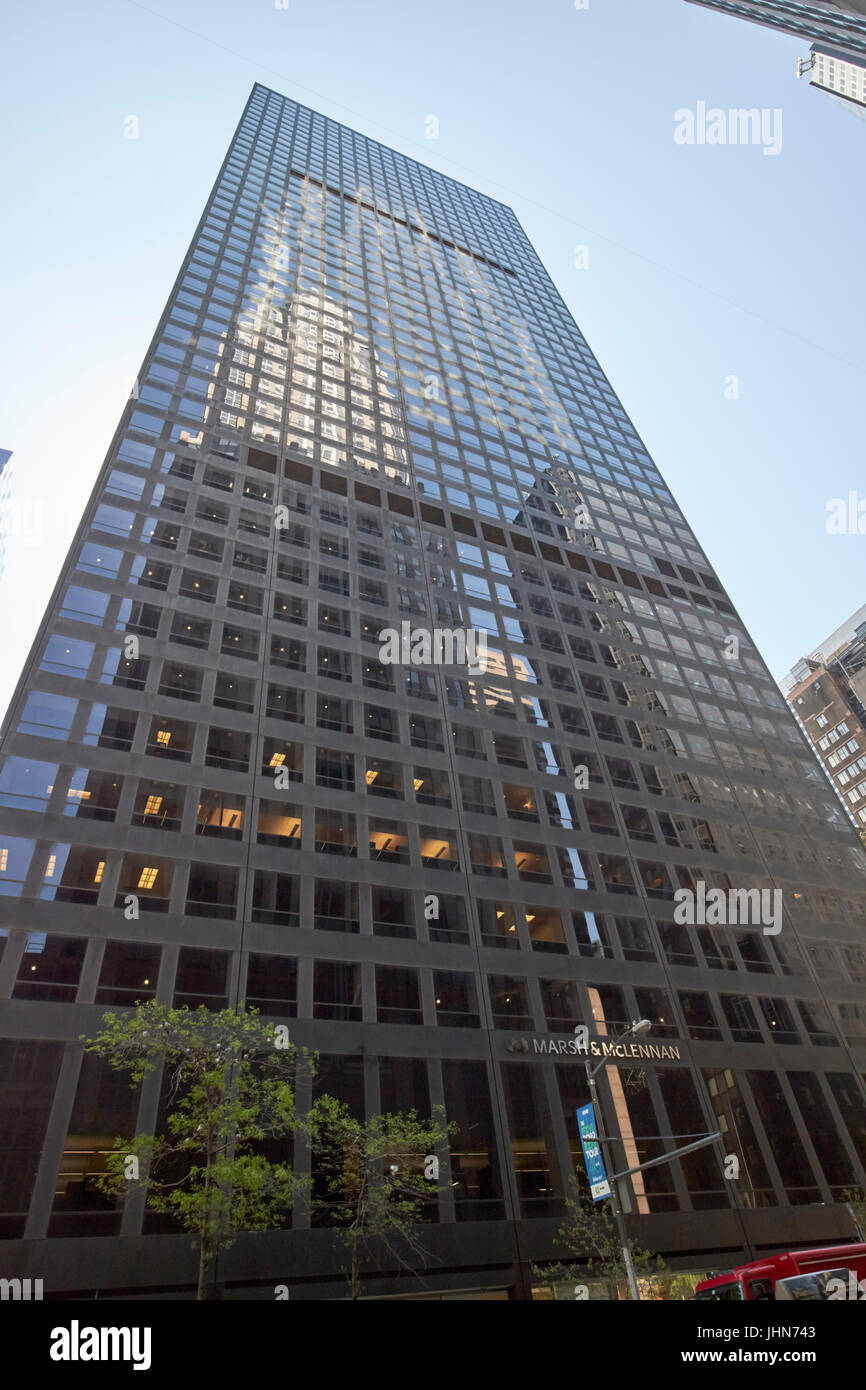former international paper building 1166 avenue of the americas marsh and  mclennan building New York City USA