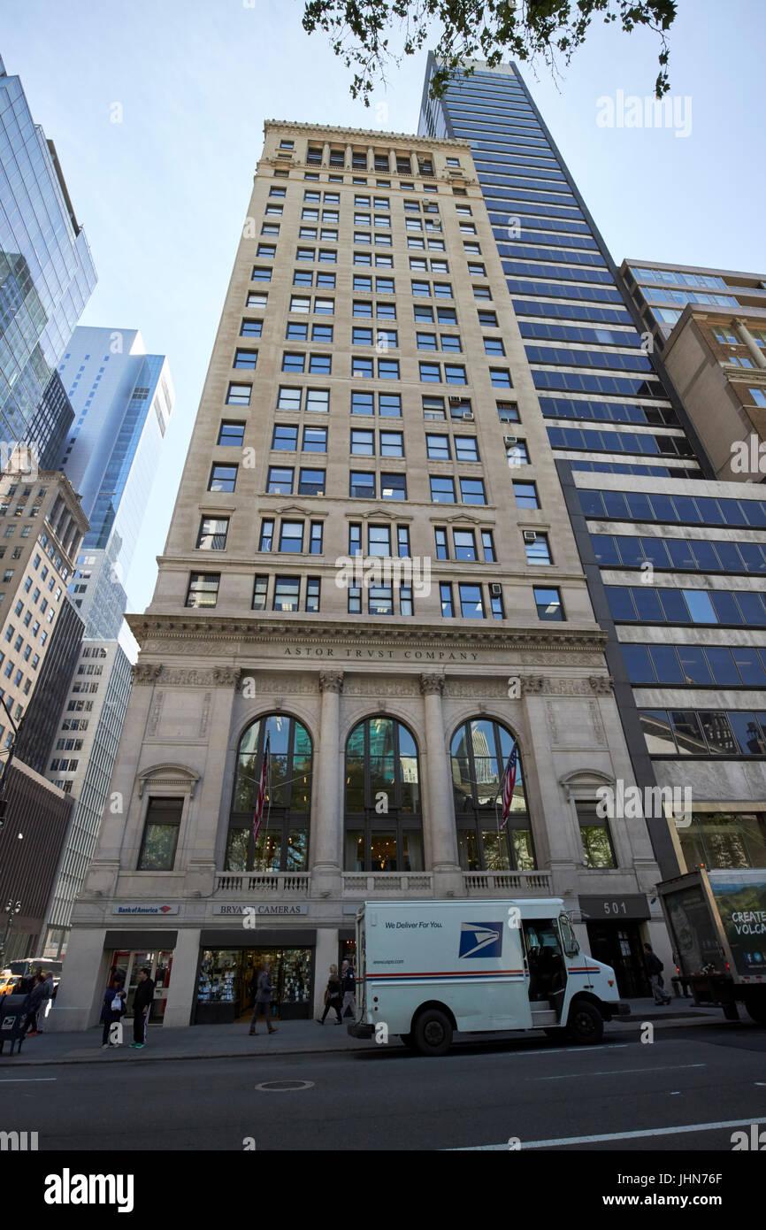 The Astor Trust company building New York City USA - Stock Image