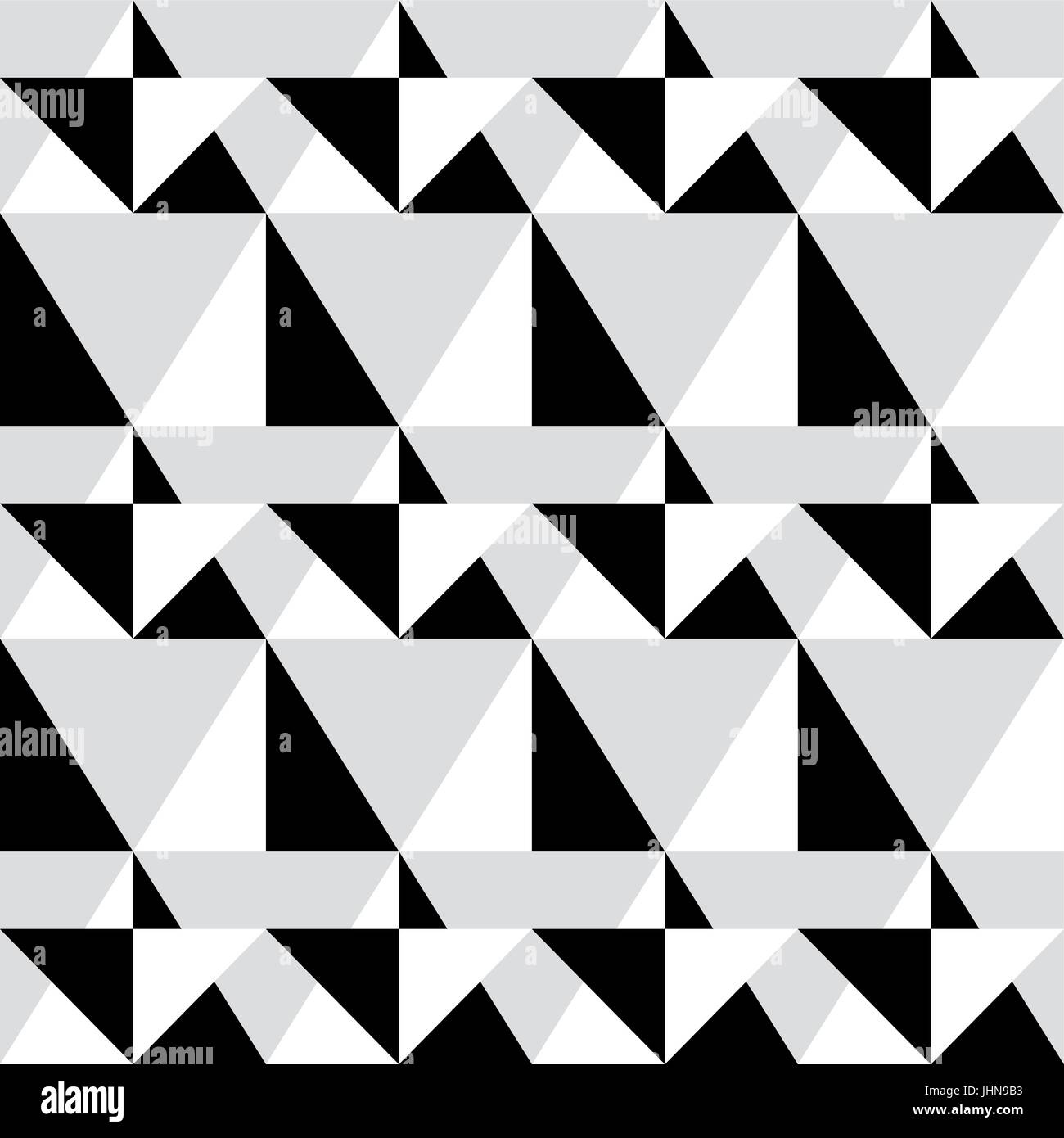 Geometric seamless pattern - abstract black and white shapes, illustration background - Stock Vector