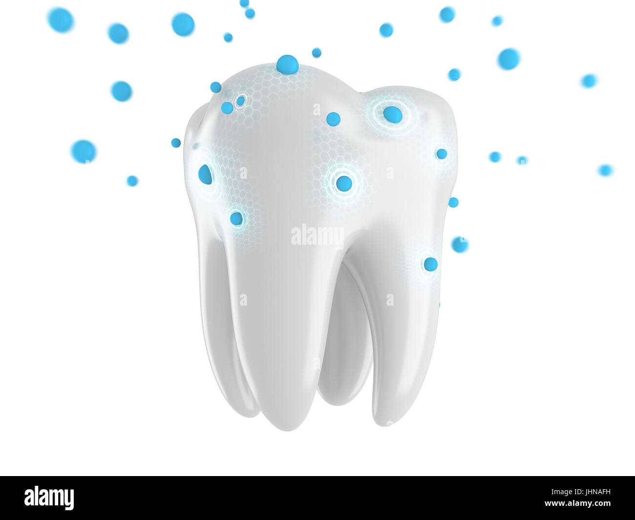 Active reducing pellets of calcium and fluorine. Protection of enamel. Bleaching. SENSITIVE Repair & Whitening. - Stock Image