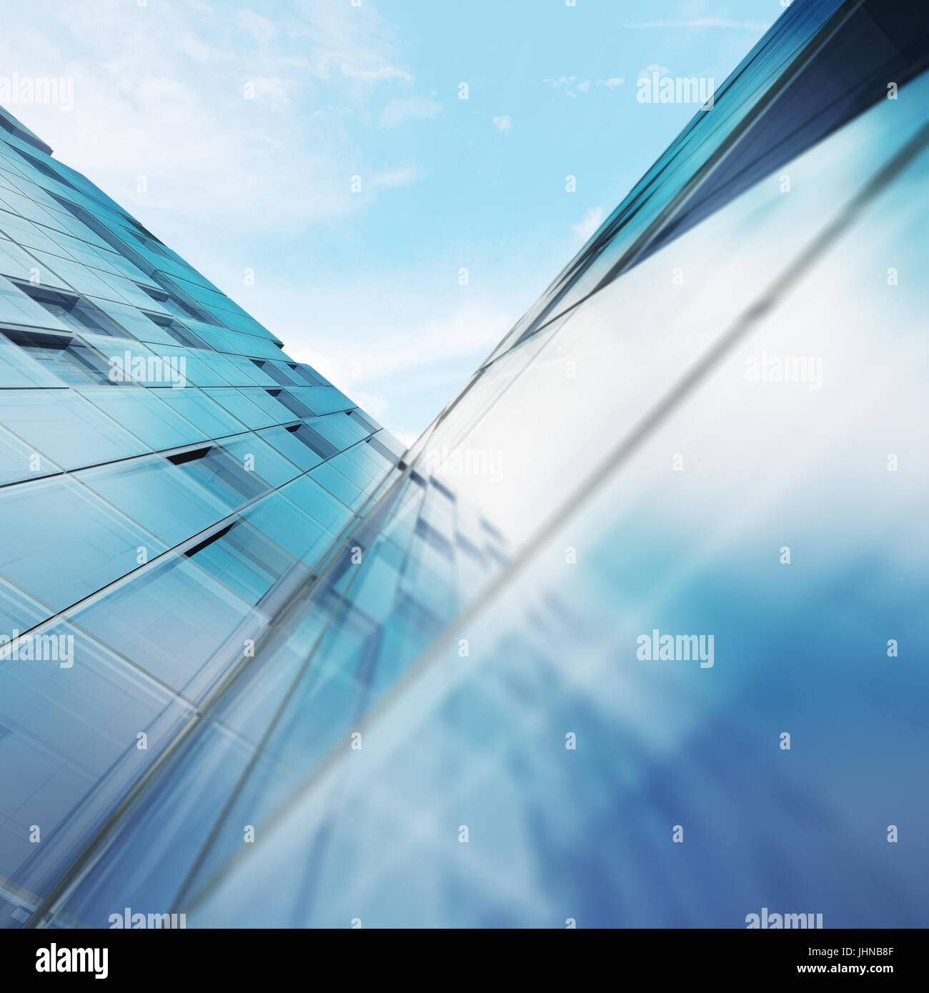 Transparent abstract building - Stock Image