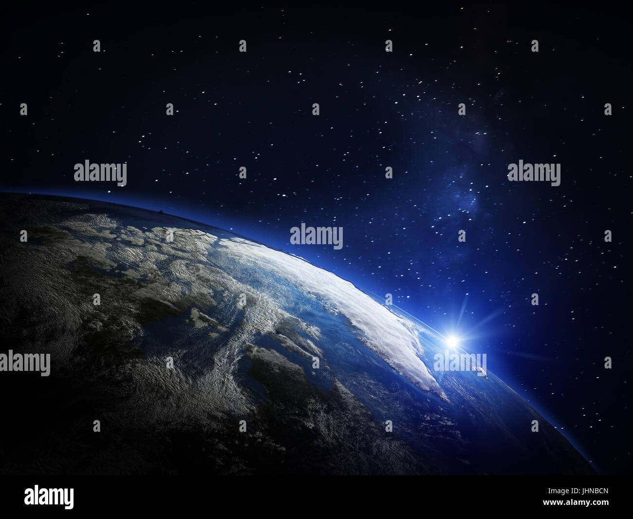 Planet Earth from space - Stock Image