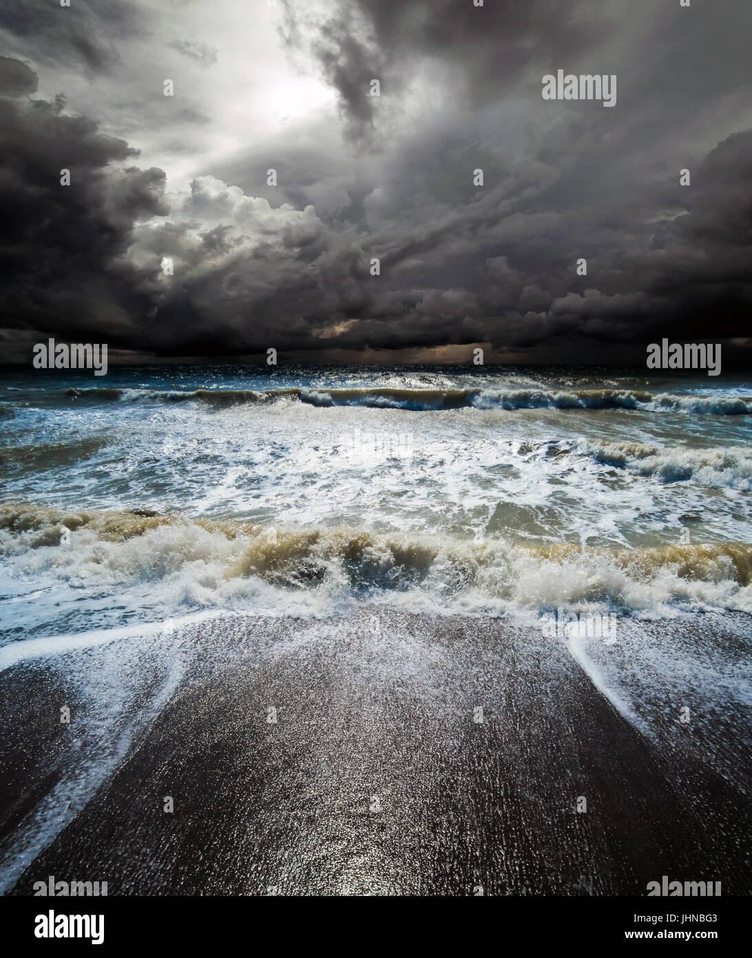 Ocean storm image background - Stock Image