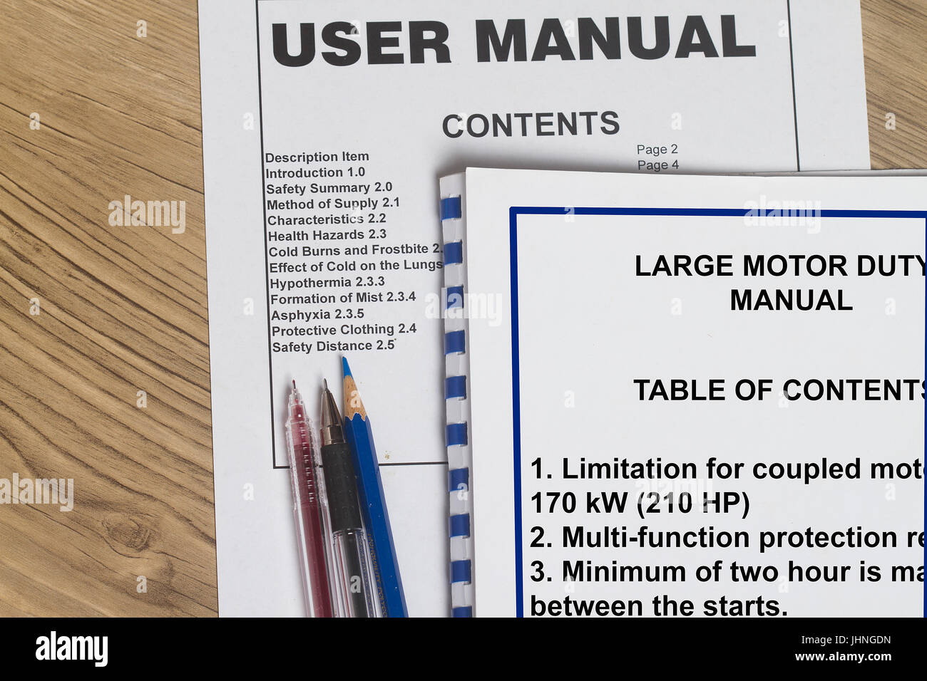 Instruction manual many uses in the oil and gas industry stock.