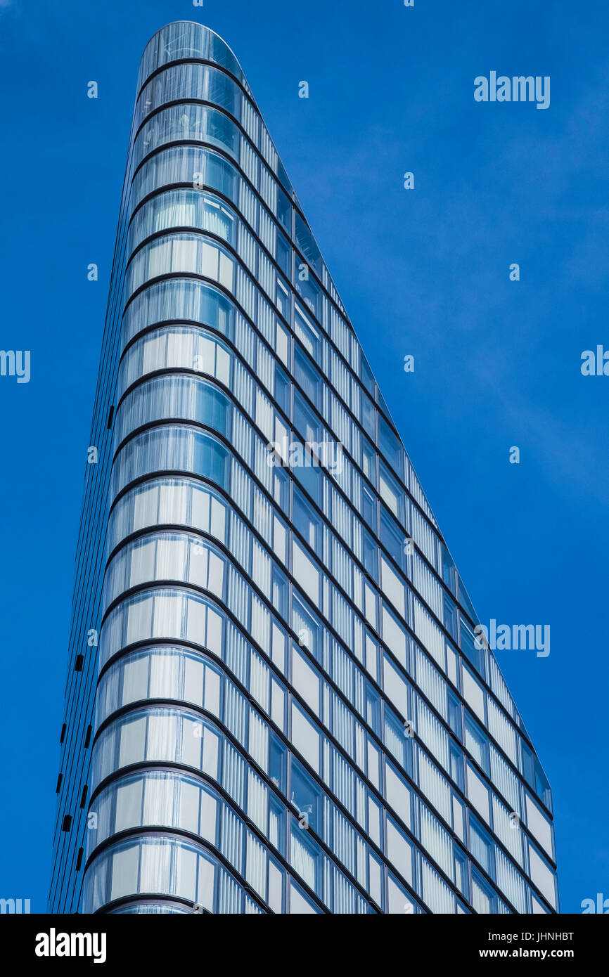 The Lexicon residential tower, City Road, London, England, U.K. - Stock Image