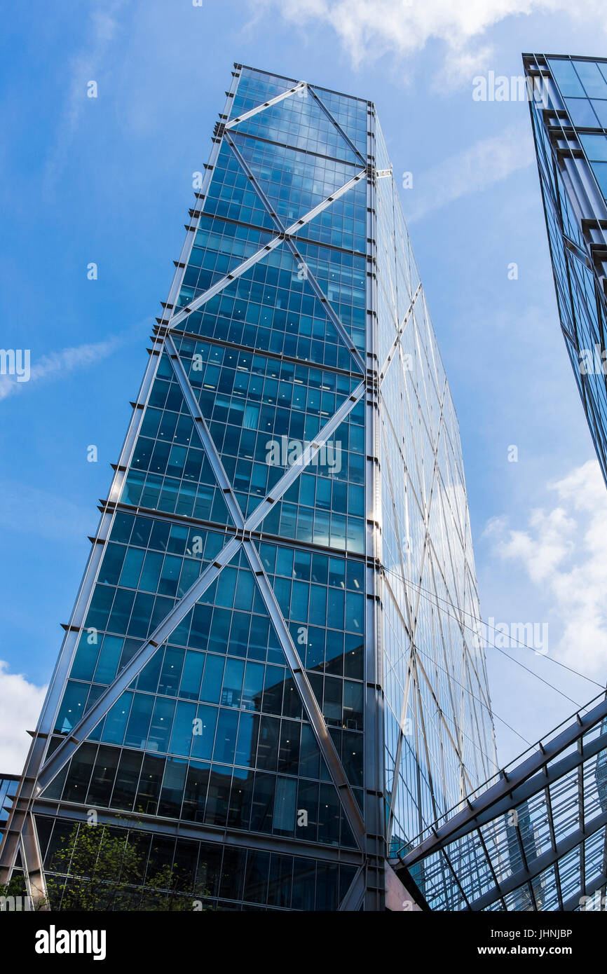 The Broadgate Tower is a skyscraper in London's main financial district, the City of London, England, U.K. - Stock Image