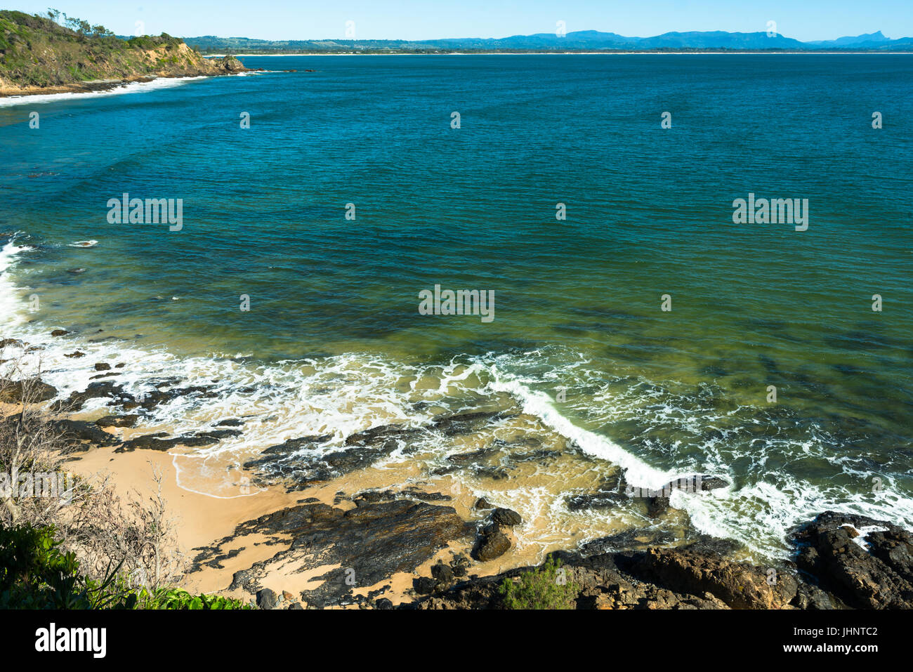 Spectacular scenery at Byron Bay, New South Wales, Australia - Stock Image