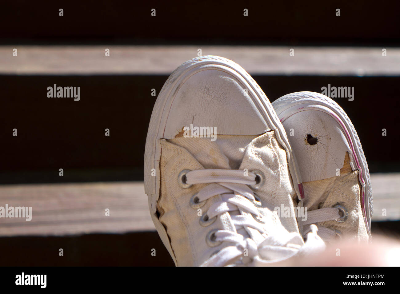 old sneekers - Stock Image