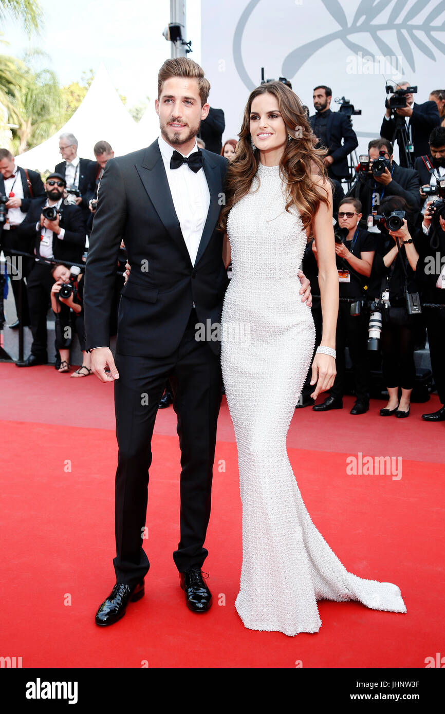 CANNES, FRANCE - MAY 22: Kevin Trapp and Izabel Goulart attend 'The Killing Of A Sacred Deer' premiere during - Stock Image
