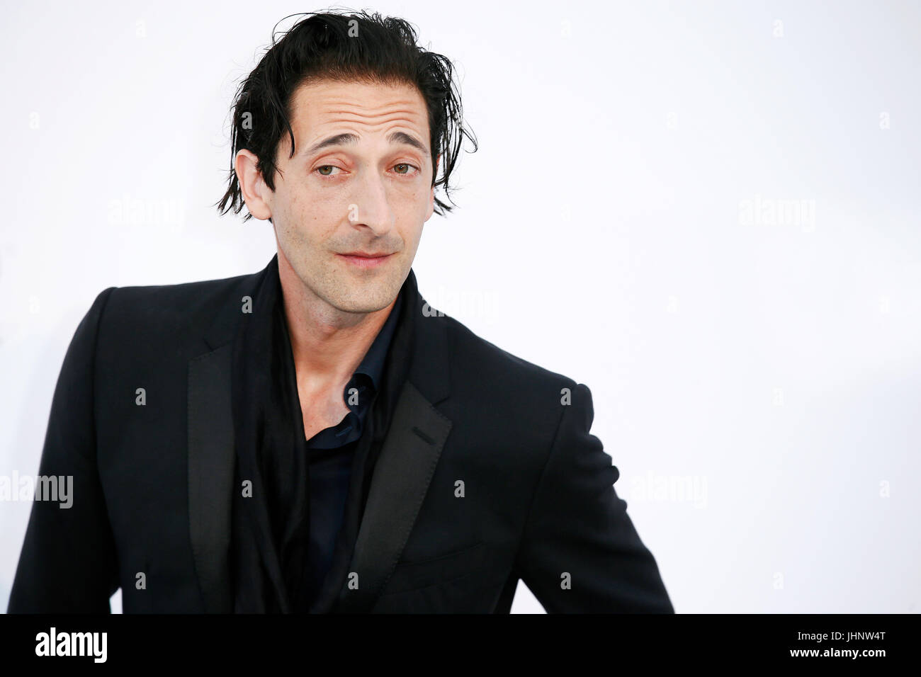 CAP D'ANTIBES, FRANCE - MAY 25: Adrien Brody arrives at the amfAR Gala Cannes 2017 at Hotel du Cap-Eden-Roc - Stock Image