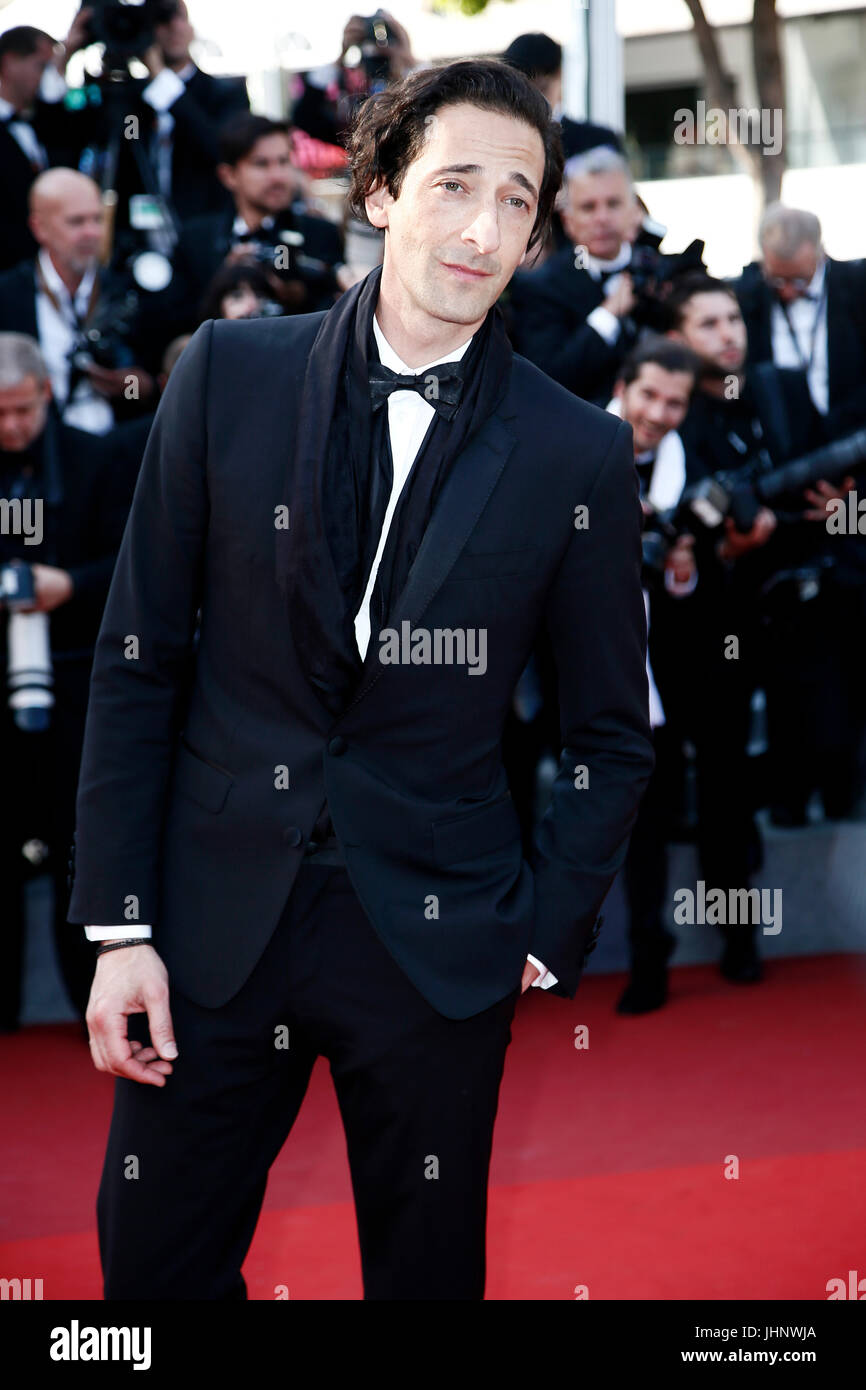 CANNES, FRANCE - MAY 27: Adrien Brody attends the 'Based On A True Story' premiere during the 70th Cannes - Stock Image