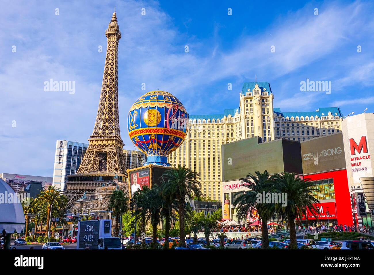 Paris Hotel and Casino in Las Vegas - LAS VEGAS / NEVADA - APRIL 25, 2017 - Stock Image