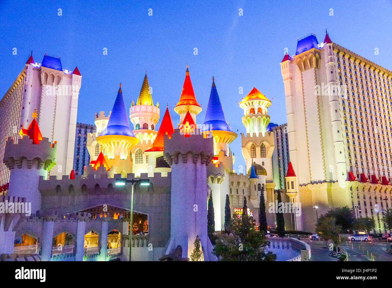 Beautiful Excalibur Hotel and Casino in Las Vegas - LAS VEGAS / NEVADA - APRIL 25, 2017 - Stock Image