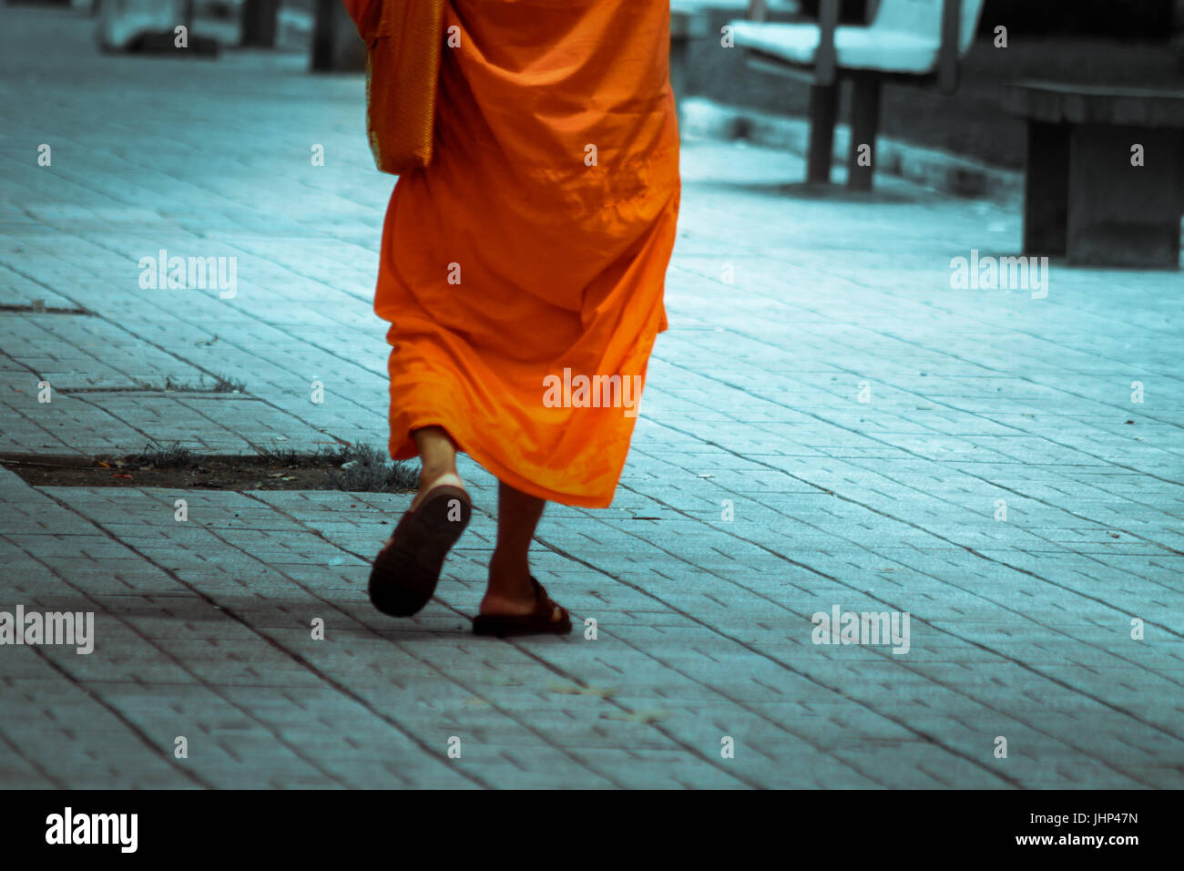 Walk away from the evils of the world - Stock Image
