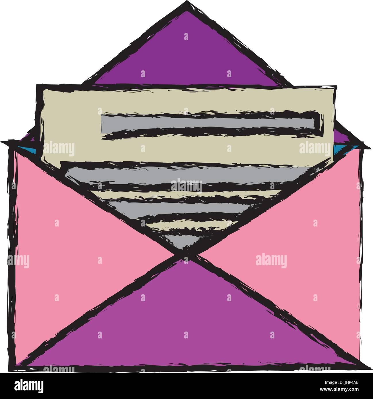 envelope mail message postal letter - Stock Vector