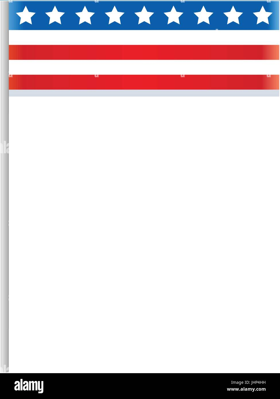 Stylized American flag frame with empty space for text for brochures ...